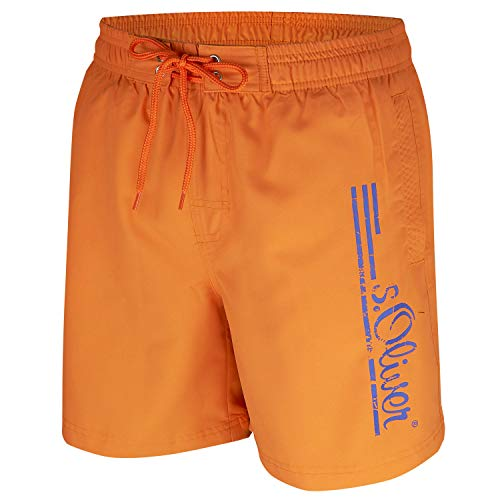 s.Oliver Herren Badeshorts, Schwimmshorts (S(48), Orange)