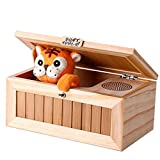 Youdw Don't Touch Useless Box Leave Me Alone Box Wooden Machine Don't Tiger Toy Funny Gift,Cute Tiger&Surprises Most (Yellow)