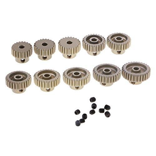 Sharplace 10 STK. 48DP 21T-30T Motorritzel Gear-Set für 1/10 RC Car