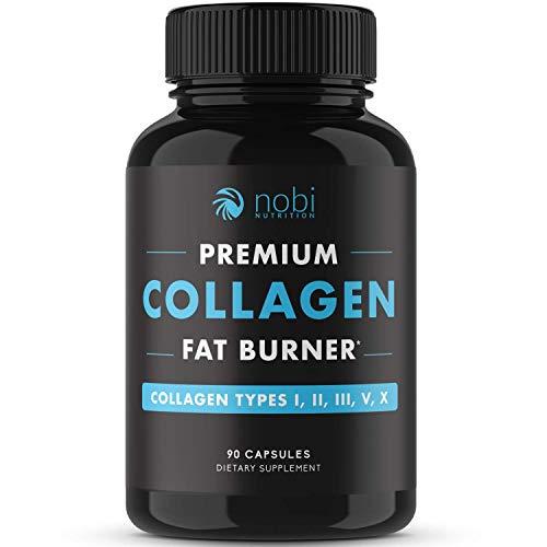 Nobi Nutrition - Collagen Thermogenic Fat Burner - Appetite Suppressant for Weight Loss, Diet Pills, Collagen Pills - Premium Multi Collagen Complex - Weight Loss Pills for Women & Men - 90 Capsules