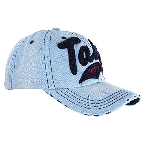 xiaochicun Sombrero Hombres y Mujeres Toma Letras Patchwork Bordado Denim Algodón Gorra de Béisbol Pato Sombrero Azul Oscuro