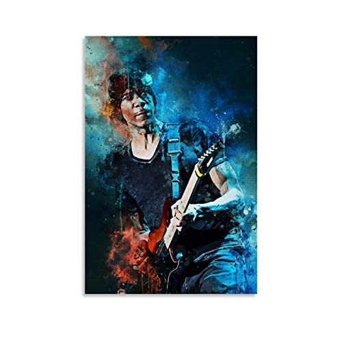 YZLI 80s Guitarrista Greg Howe Vintage Canvas Art Poster y Wall Art Picture Print Modern Family Bedroom Decor Poster 30 x 45 cm