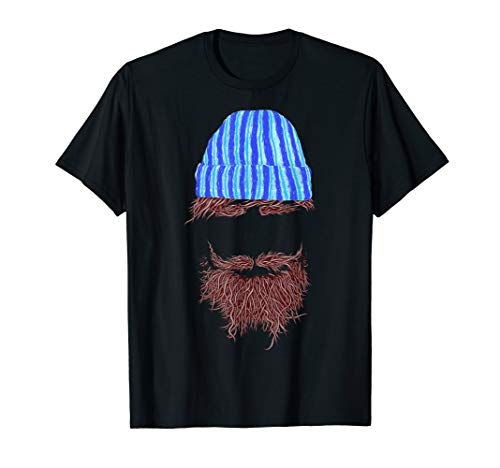 Funny Hipster Beard And Beanie Lovers Gift T-Shirt