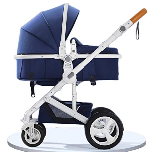 Buy LANGY TC4 Baby Stroller, 2-in-1 Convertible Bassinet Reclining Stroller, Foldable Pram Carriage,...