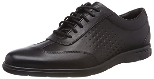 Clarks Herren Vennor Vibe Derbys, Schwarz (Black Leather), 42.5 EU