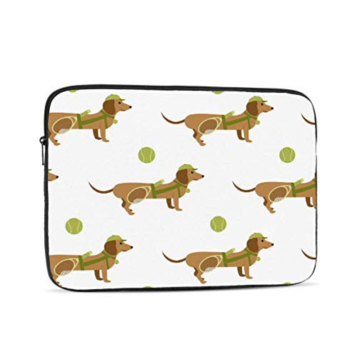Laptop Sleeve Case 17 Inch Cartoon Sport Dachshund Dogs Tennis Ball Laptop Sleeve/notebook Computer Pocket Case/tablet Briefcase Carrying Bag