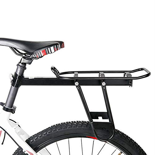 YDD Alloy Bike Cargo Racks Bicycle Rear Pannier Rack Mountain Carrier Rear Rack Seat Load 30Kg Luggage Bags for Cycling Camping Sport