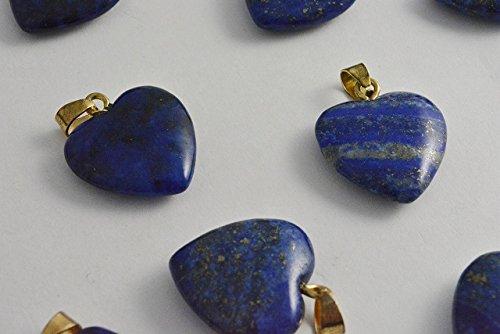 ビーズクラブ ラピスラズリ ハート ペンダントトップ 金 天然石 金具付 20mm 2個 パワーストーン ラピス 青 ブルー