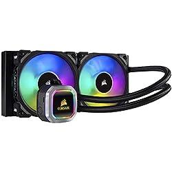 Corsair H100i RGB Platinum Raffredamento dell'Acqua e Freon Processore, Radiatore da 240 mm, l'Illuminazione RGB, Intel 1150/1151/1155/1156 Intel 2011/2066 AMD AM3/AM2