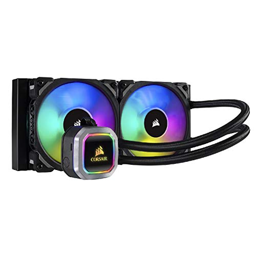 Corsair H100i RGB Platinum Raffredamento dell'Acqua e Freon Processore, Radiatore da 240 mm, l'Illuminazione RGB, Intel 1150/1151/1155/1156 Intel 2011/2066 AMD AM3/AM2
