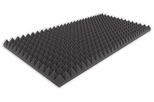 Akustikschaumstoff TYP 100x50x5 Pyramidenschaumstoff Schalldämmmatten zur effektiven Akustik Dämmung