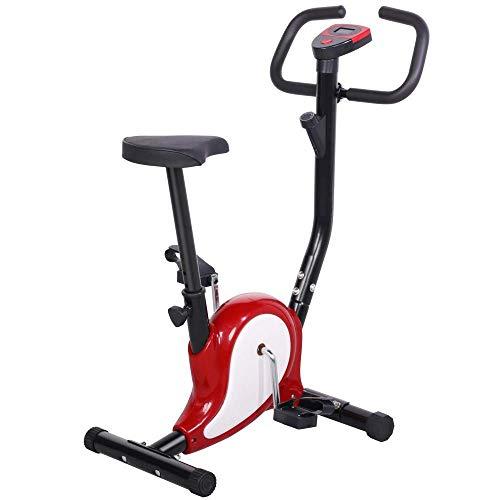 OUTAD Training Exercise Bike LCD Display Comfortable Sponge Adjustable Height Saddle Indoor trainer Bike UK BU-black …