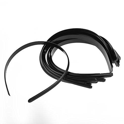 skyllc® 12 Serre Tete DE Cheveux en Plastique Noir 10MM Fille