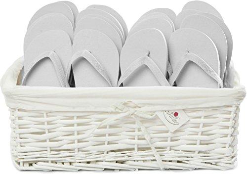 ZOHULA Weiß Originals Flip Flop Party Pack - 20 Paar Sx4 (35-37) Mx10 (38-39) Lx6 (40-42)