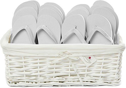 ZOHULA Weiß Originals Flip Flop Party Pack - 20 Paar Sx4 (35-37) Mx10 (38-39) Lx6 (40-42)