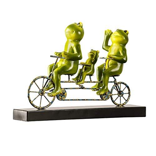 Zixin Statue Fahrrad-Frosch-Skulptur Dekoration, im europäischen Stil Wohnzimmer Kinderzimmer TV Veranda Kabinett einfache Dekoration