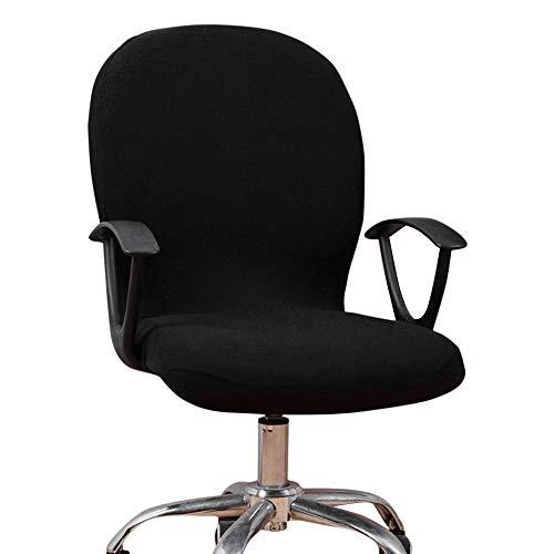 Dightyoho Funda para Silla de Oficina Elástica Universal, Cubierta de Silla de Escritorio de Ordenador Extraíble Lavable (Negro)