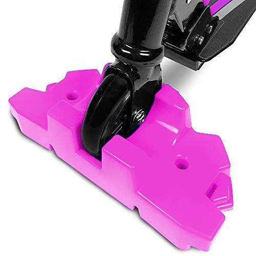 50 robuste Roller-Ständer, passend für die meisten Roller mit 95 mm bis 125 mm Rädern, ineinandergreifendes Design mit extra stabilem Standfuß, Rose
