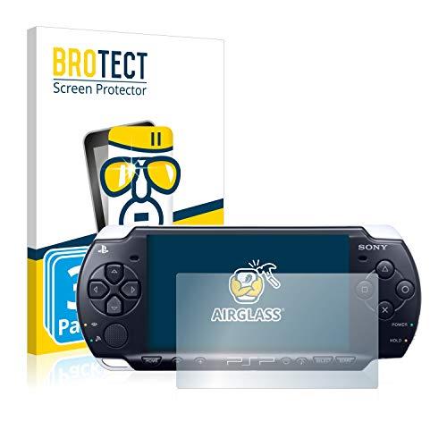 BROTECT Panzerglas Schutzfolie kompatibel mit Sony PSP 3004 (3 Stück) - AirGlass, 9H Härte, Anti-Fingerprint, HD-Clear