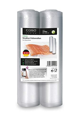 Caso 1295 Folienrolle für Vakuumierer, BPA-frei, Transparent