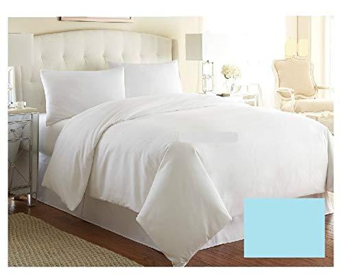 Funda de edredón de lujo para cama de tamaño Emperor, de 20 colores, color azul