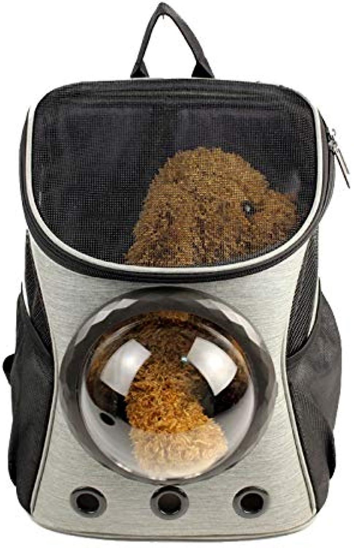 Nosterappou Transparent Shoulder Travel Out Portable Dog cat Bag, Canvas Space pet Backpack, pet Bag (32  25  37cm)