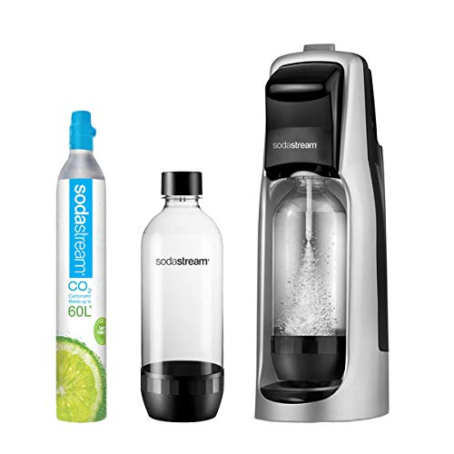 SodaStream Jet Sparkling Water Maker Starter Kit, Black and Silver