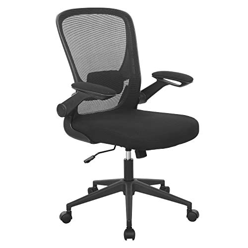 Home Office Chair Ergonomic Desk Chair Mesh Computer Chair Swivel Rolling Executive Task Chair with Lumbar Support Arms Mid Back Adjustable Chair for Men Adults, Black