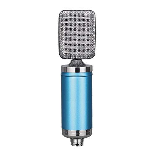 Micrófono profesional for el canto de Youtube Conferencias TME Telefonía Informática Transmisión en vivo de vídeo para iPhone Android iPad PC (Color : Blue)