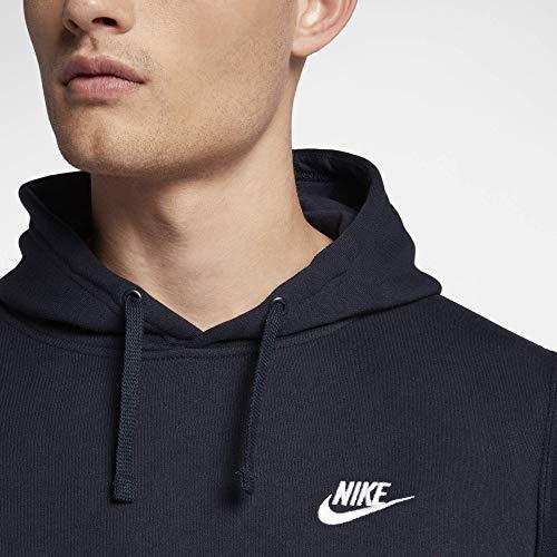 Nike Sportswear Hoodie PO BB Sweat à Capuche Homme Noir/Blanc FR : M (Taille Fabricant : M)
