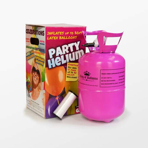 We Are Party Bombona de Helio Mini 0,25m3 + 30 Globos de Colores Calidad Helio 25cm Made In Spain
