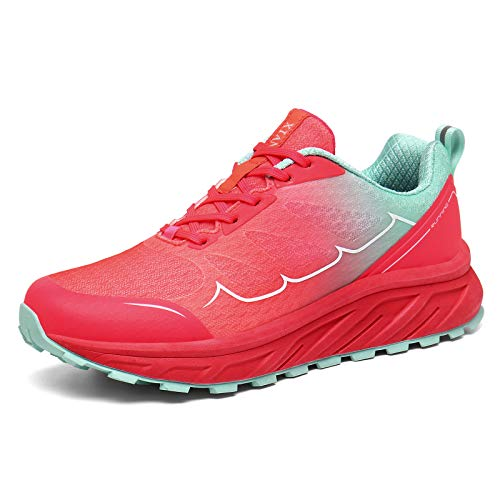 K DUORO Herren Damen Laufschuhe Straßenlaufschuhe Sneaker Leichte Joggingschuhe Turnschuhe Walkingschuhe Traillauf Fitness Schuhe (Pink, 41 EU, 41)