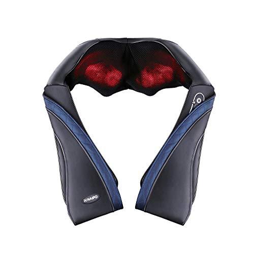 Naipo首マッサージャーネック・ショルダーマッサージ器ヒーター付き首・肩・腰・背中・太もも肩こりストレス解消家庭用&職場用&車用温熱療法