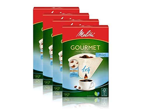 Melitta Filtertüten 1x4/80 Gourmet mild naturbraun Aroma, 4er Pack (4 x 1 Stück)