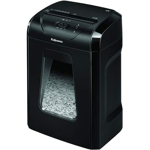 """Fellowes Powershred 12C Cross Cut Shredder - Non-Continuous Shredder - Cross Cut - 12 Per Pass - for shredding Paper, Paper Clip, Junk Mail, Staples, Credit Card - 0.156"""" x 1.563"""" S"""