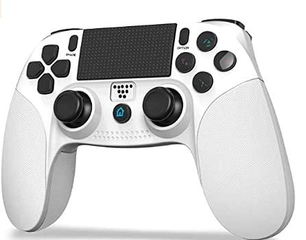 「2021最新型」JOYSKY PS4 コントローラー ワイヤレス 最新バージョン Bluetooth リンク遅延なし 500mAh ジャイロセンサー機能 イヤホンジャック ゲームパット 搭載 高耐久ボタン 二重振動 日本語取扱説明書 PS3 コントローラー(ホワイト)