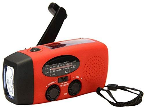 Multifunctionele huishoudelijke multifunctionele handradio Solar Crank Dynamo Powered AM/FM/NOAA Weerradio Gebruik nood-LED-zaklamp en powerbank