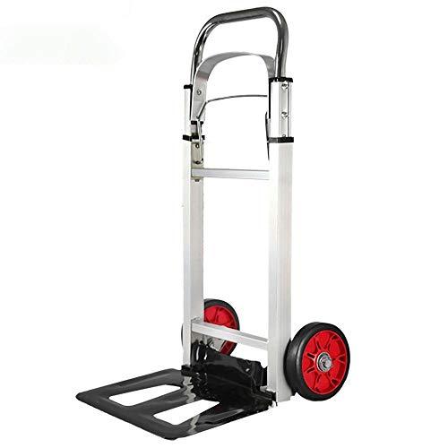 Aluminiumlegierung Treppen Transportkarre Klappbar Leichtgängige Räder mit Soft-Laufflächen und bis 90 kg,Gold Und Silber Einkaufstrolley zur Verwendung auf Gartenwagen und anderen kompatiblen Trolli
