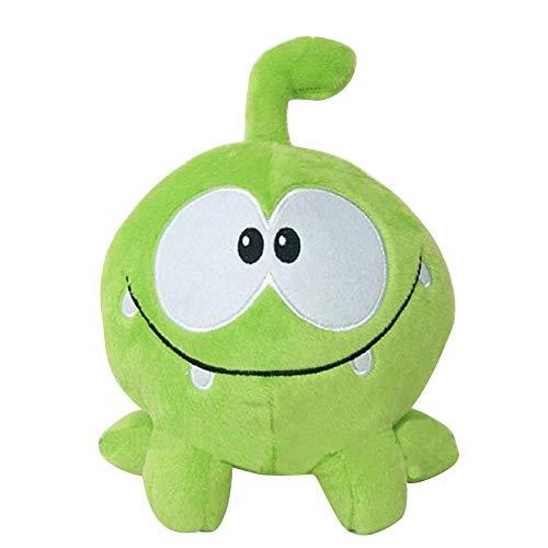 ISAKEN Plüschtier Frosch, 18cm Om Nom Frosch Plüsch Plüschtier Cut The Rope Plüsch Figur, Weiche Plüschtiere Schönes Geschenk Puppe Spielzeug für Kinder