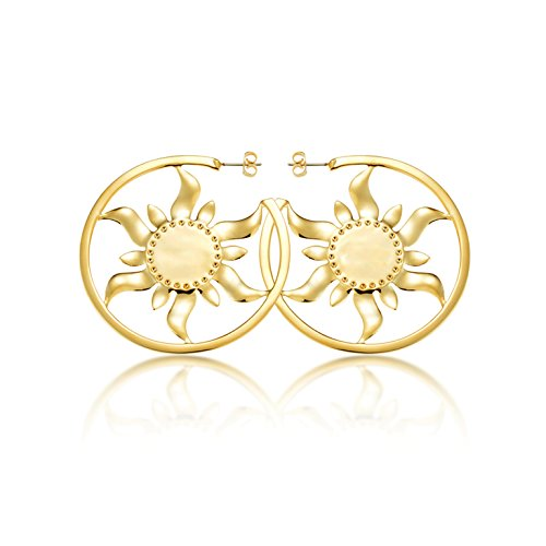 Goebel Couture Kingdom Rapunzel Ohrringe Sonne, Ohrring, Ohr Ringe, Schmuck, Gold, 12100651