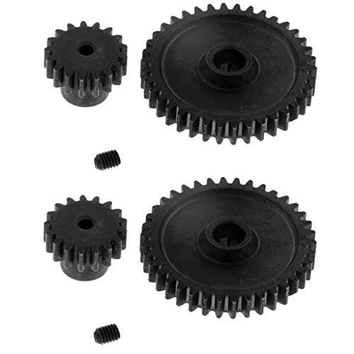perfeclan Engranaje de Reducción de Metal Y Engranaje de Motor para Piezas WLtoys A949 A959 A969 A979 K929