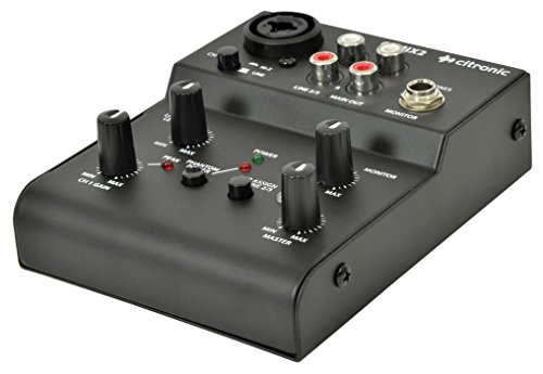 Citronic Q-MIX2 compact USB recording mixer mengpaneel voor streaming, home studio, podcast