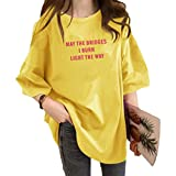フィオナマックール ロゴTシャツ Tシャツ Tシャツ半袖 tシャツ Tシャツレディース プリントTシャツ ティーシャツ 英字Tシャツ Tシャツ薄手 Tシャツ綿100 カットソー ロンT Tシャツ透けない おうち服 部屋着 Tシャツ可愛い 大きいサイズ 大きいサイズ オルチャンファッション おしゃれ 韓国ファッション 韓国風Tシャツ ゆったり ゆったりサイズ 秋 春 夏 レディース 黄色 2XL