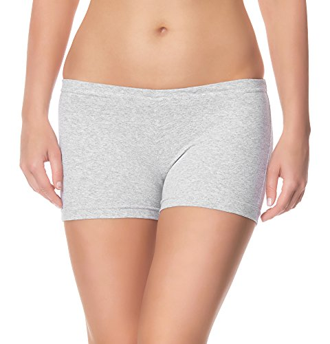 Ladeheid Damen Shorts Radlerhose Unterhose Hotpants Kurze Hose Boxershorts LAMA05, Melange12, M-L (Herstellergröße: 38-40)