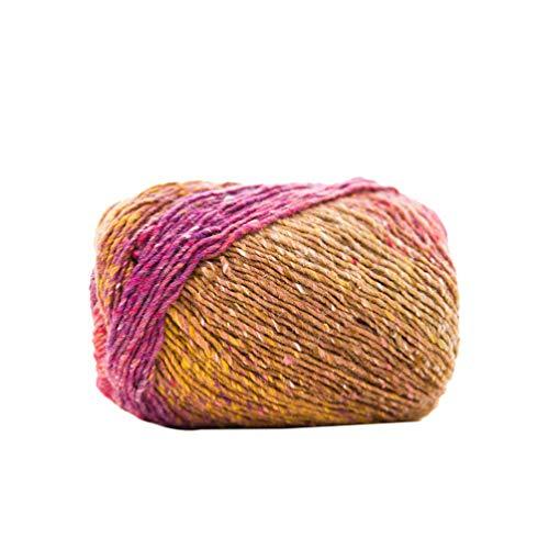 EXCEART Hilo de Ganchillo de Lana Hilado Degradado Teido por Segmento de Color Bufanda de Ganchillo a Mano Sombrero Chal Suter Manta Disfraz Hilo de Lana Suave para Tejer a Ganchillo (Estilo 05)