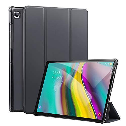 ZtotopCase Hülle für Samsung Galaxy Tab S5e,Leichtgewichts-Ultra Schlank PU Leder Hülle mit Auto Schlaf/Wach, für Samsung Galaxy Tab S5e 10.5 Zoll 2019,Grau