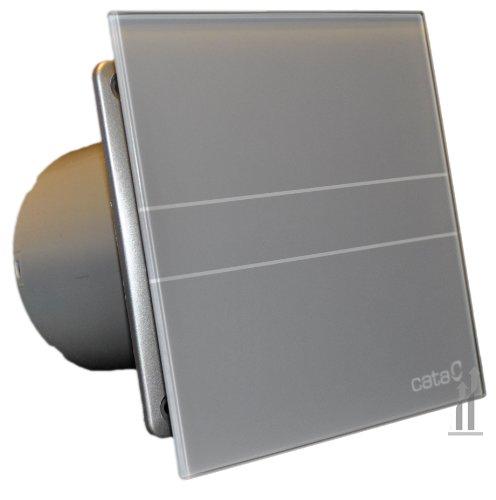 Cata | Extractor baño | Modelo e-100 Gs | Estractor de baño Serie e Glass | Ventilador Extractores de aire | Extractor baño silencioso | Extractor aire para baño | color plata