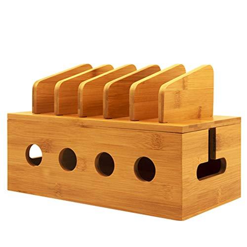 MAGFUN Caja Almacenamiento Cables Caja de Regleta de AlimentacióN Organizador de Enchufes Antipolvo Escritorio de Seguridad LíNea de Red Contenedor de Almacenamiento Cable de Cargador