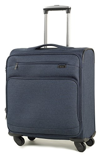 Rock Madison 56cm Cabin Size British Airways Compliant (56 x 45 x 25cm) Four Wheel Spinner Suitcase Navy