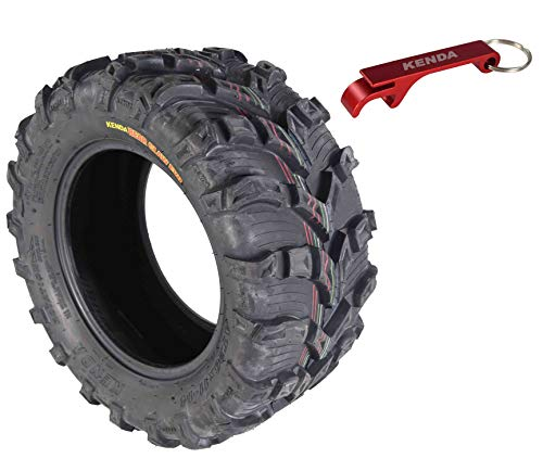 Kenda Bear Claw EVO ATV UTV All Terrain Mud Bearclaw Tires with Bottle Opener Keychain (26x11-14 Rear)
